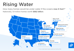 Rising sea levels in America, from realty website and blog Zillow